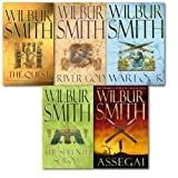 Wilbur Smith Collection 5 Book Set. (The Quest, the seventh scroll, river god, warlock and assegai) (Wilbur Smith Collection)