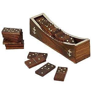 Domino di legno di gioco open boat vassoio e pezzi a - Domino gioco da tavolo ...