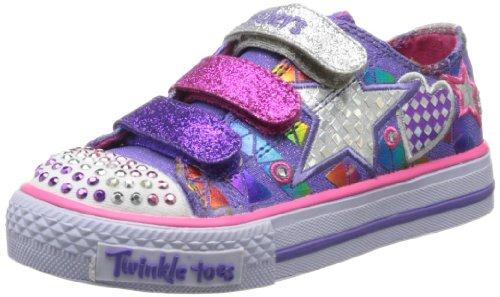 Skechers Girls ShufflesClassy Sassy Low Purple Violett (PRMT) Size: 13 (32 EU)