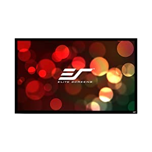 Elite Screens 110 Inch 16:9 SableFrame Ambient Light-Rejecting 2D and 3D Projector Screen