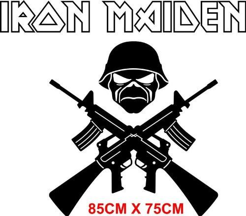 Iron Maiden nome adesivo da parete in vinile. Graffiti