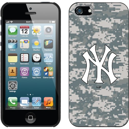 Best Price New York Yankees - Digi Camo NY design on a Black iPhone 5 Thinshield Snap-On Case by Coveroo