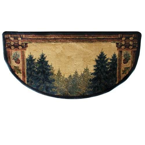 Fireplace Rugs Amazon: Very Cheap Hearth Rug: Goods Of The Woods 11003 Forest