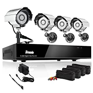 Zmodo 8CH H.264 DVR Security CCTV Surveillance Camera System 4 Sony CCD Night Vision Outdoor Camera With 1TB Hard Drive
