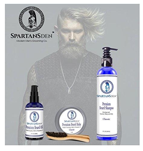 sale spartans den premium beard shampoo 8oz best beard. Black Bedroom Furniture Sets. Home Design Ideas
