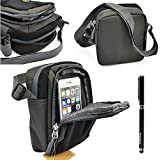 NYZ Multifunction Outdoor Exercise Sport Pocket Purse Passport Cover Small Single Shoulder Bag / Wallet Credit Card Watch Bag / Cycling Hiking Camping Travel Bag for Cellphones Samsung Note 4,note Edge,note 3,s5, Iphone 6 Plus ,Iphone 6,5s,motorola ,Nokia ,Lg,sony and Other Accessories and Free 2 in 1 Stylus
