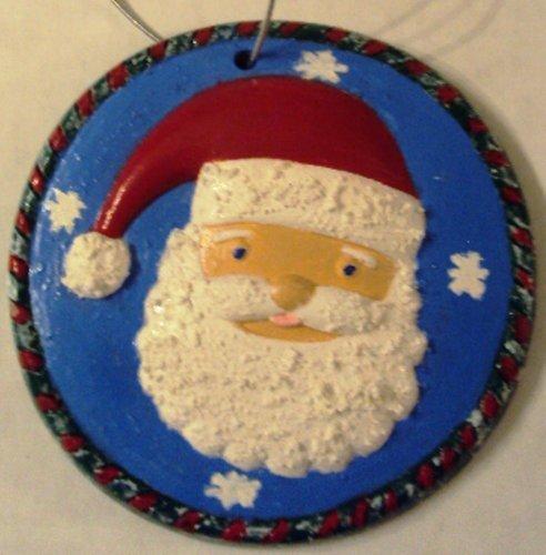 christmas-crafts-hand-made-santa-face-ceramic-ornament-round