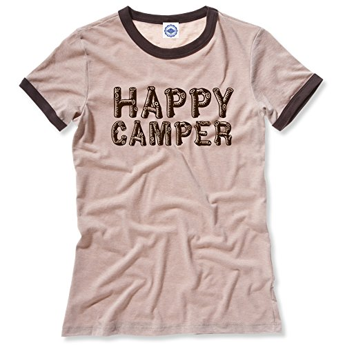 Hank Player Happy Camper Ladies Vintage Style Tee