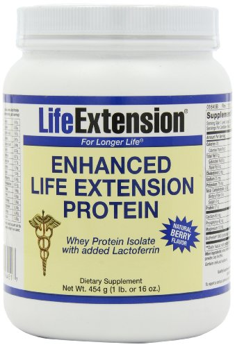 Life Extension Enchanced Life Extension Whey Protein, Berry, 1-Pound