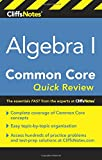 img - for CliffsNotes Algebra I Common Core Quick Review book / textbook / text book