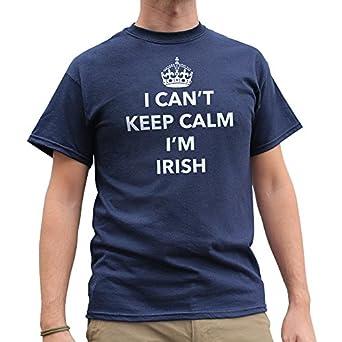Nutees I Can't Keep Calm I'm Irish, Ireland Funny Mens T Shirt - Navy Blue Small