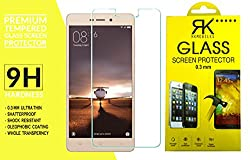 RKMOBILES Tempered Glass, 9H Hardness Ultra Clear, Anti-Scratch, Bubble Free, Anti-Fingerprints & Oil Stains Coating For Xiaomi Redmi 3s Prime