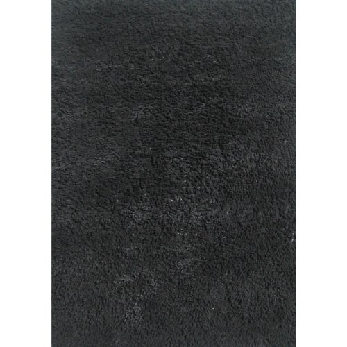 High Pile Chenille Cotton Shag Area Rug Black 39