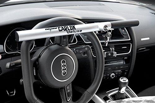 Kleinmetall Carlok Auto Diebstahlsicherung Lenkradkralle Absperrstange (Silber)