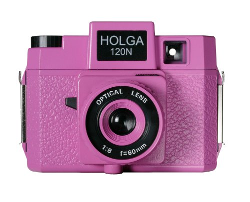 Holga 178120  Holgawood Collection Plastic Camera (Pink)