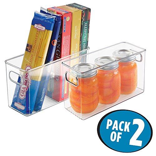 mDesign Refrigerator, Freezer, Pantry Cabinet Organizer Bins for Kitchen, 10
