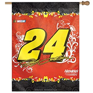 NASCAR Jeff Gordon Number 24 Vertical Flag, 27 x 37-Inch by WINAV