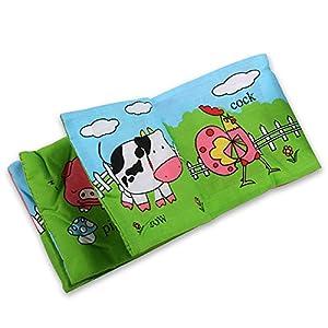 SODIAL(R) Tejido suave desarrollo del bebe Inteligencia Ninos chillona Imagen Cloth Book - Animal Kingdom por SODIAL(R) - BebeHogar.com