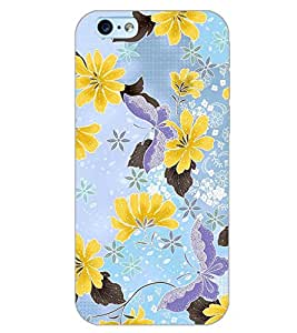 PrintDhaba FLOWER PATTERN D-6414 Back Case Cover for APPLE IPHONE 6 (Multi-Coloured)