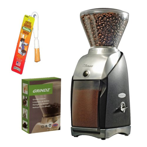 Baratza 586 Virtuoso Coffee Grinder + 3-pack 35G Grindz Coffee Grinder Cleaner + Coffee Grinder Dusting Brush