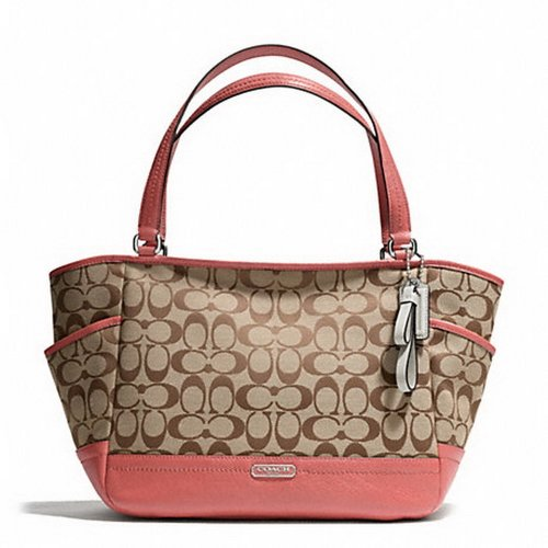 Coach   Coach Carrie Signature Women's Tote Hangbag Purse 23297 Brown