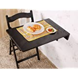 SoBuy Wall-mounted Drop-leaf Table, Folding Kitchen & Dining Table Desk, Solid Wood Children Table, 70cm(27.5in)×45cm(17.7in), FWT04-SCH(BLACK)