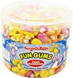 Swizzels Matlow Fun Gum Tubs Foam Mushrooms (3 x 600)