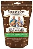 Newmans Own Organics Premium Dog Treats, Turkey & Sweet Potato, 10-Ounce Bags (Pack of 6)