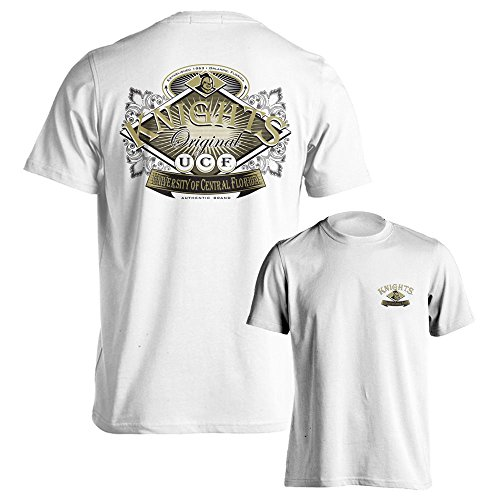 University of Central Florida UCF Knights Original Short Sleeve White T-Shirt (2XL) (Central Florida Knights compare prices)