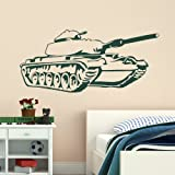 Boys Bedroom Art - Tank Decal Large Stickers / Army Decor Vinyl Wall Decal ne47