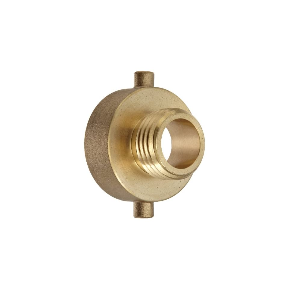 Moon 369 1521021 Brass Fire Hose Adapter, Pin Lug, 1 1/2 NH Female x 1 NH Male