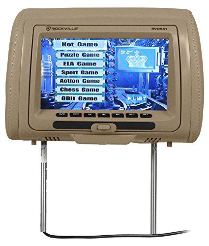 Rockville RVD951-BG 9 Beige Dual DVD/USB/HDMI/SD Car Headres