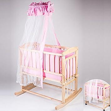 berceau lit b b b b multifonctions en bois massif naturel set de de lit rose. Black Bedroom Furniture Sets. Home Design Ideas