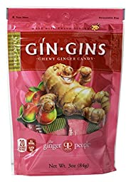 Ginger People - Ginger Chews Spicy Apple Flavor - 3 oz (pack of 2)