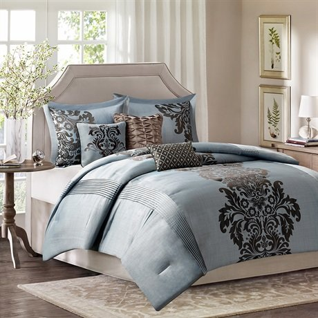 Novak 7 Piece Comforter Set Size: King front-876360