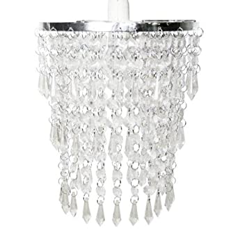 Modern Chandelier Pendant Shade with Clear Acrylic Droplets