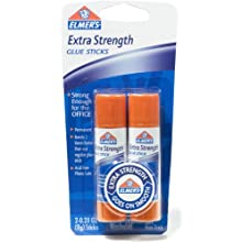 Elmer's Extra Strength Office Glue Sticks, 0.28 oz Each, 2 Sticks per Pack (E526)