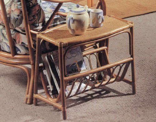 Buy Low Price Rattan Magazine End Side Table (B004BH84JM)