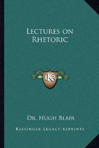 Lectures on Rhetoric