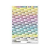 ANAHEIM INDUSTRY CMYK color chart poster アナハイム インダストリー CMYK カラーチャートポスター (B)uncoated [HD1394]