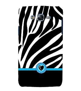 Zebra Love Heart 3D Hard Polycarbonate Designer Back Case Cover for Samsung Galaxy J7 (2015) :: Samsung Galaxy J7 J700F (Old Version)