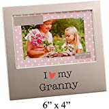 I Love My Granny Photo Frame Silver Metal Sweet Gift By Haysom Interiors