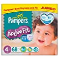 Pampers Active Fit Size 4 (7-18kg) Jumbo Pack�68 per pack