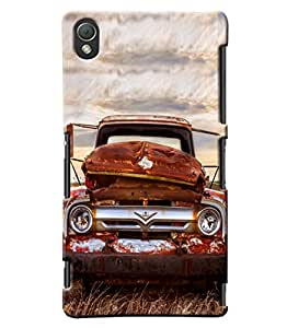 Blue Throat Vintage Car Inspired Hard Plastic Printed Back Cover/Case For Sony Xperia Z3