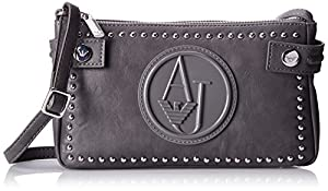 Armani Jeans ZY Studded Cross Body Bag, Grey, One Size