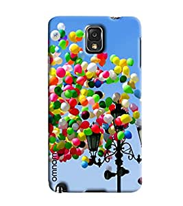 Omnam Colorful Ballons Flying Printed Designer Back Cover Case For Samsung Galaxy Note 3