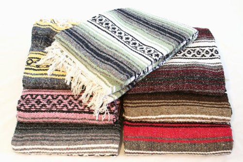 Rolling Sands Classic Mexican Yoga Blanket, Assorted front-1059430