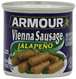 Armour Vienna Sausages, Jalapeno, 4.75-Ounce Cans (Pack of 24)