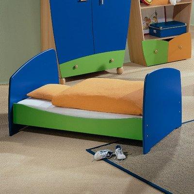 Einzelbett Fantasia Liegefläche: 90 x 200 cm, Farbe: Ahorn / Gelb