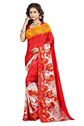 Pruthu Georgette Sari with Unstitched Blouse (plava_006)